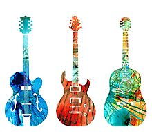Abstract Guitars by Sharon Cummings Photographic Print