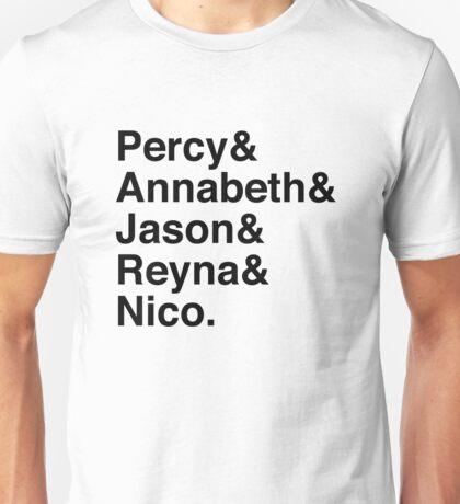 Percy & Annabeth & Jason & Reyna & Nico. (Percy Jackson) Unisex T-Shirt