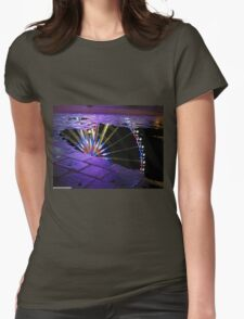 Big Wheel reflected in water Womens Fitted T-Shirt