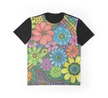 Doodle Flowers Graphic T-Shirt