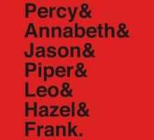 Percy & Annabeth & Jason & Piper & Leo & Hazel & Frank. (Percy Jackson) One Piece - Short Sleeve