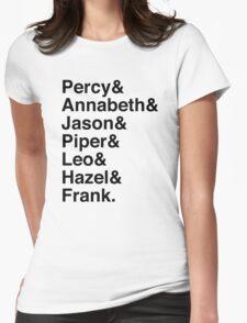 Percy & Annabeth & Jason & Piper & Leo & Hazel & Frank. (Percy Jackson) Womens Fitted T-Shirt