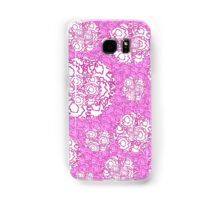 Cool cute swirls dots vibrant pink white pattern    Samsung Galaxy Case/Skin