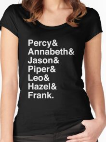 Percy & Annabeth & Jason & Piper & Leo & Hazel & Frank. (Percy Jackson) (Inverse) Women's Fitted Scoop T-Shirt