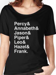 Percy & Annabeth & Jason & Piper & Leo & Hazel & Frank. (Percy Jackson) (Inverse) Women's Relaxed Fit T-Shirt