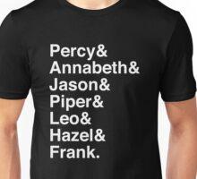 Percy & Annabeth & Jason & Piper & Leo & Hazel & Frank. (Percy Jackson) (Inverse) Unisex T-Shirt