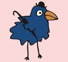 Business Bird - Blue One Piece - Long Sleeve