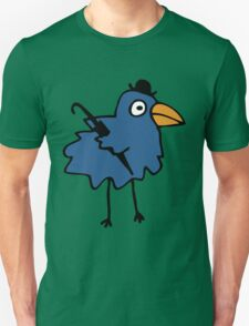 Business Bird - Blue Unisex T-Shirt