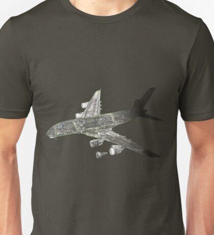Airbus A 380 cutaway Unisex T-Shirt