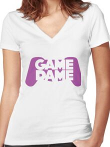 Game Dame - Violet Women's Fitted V-Neck T-Shirt