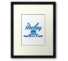 Hockey boy Framed Print