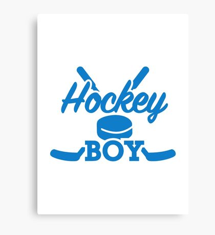 Hockey boy Canvas Print