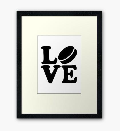Hockey love Framed Print