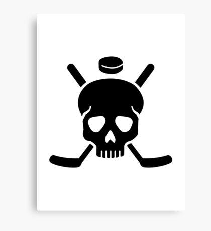 Hockey skull Canvas Print
