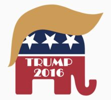 Trump 2016 GOP Elephant Hair ©TrumpCentral.org One Piece - Short Sleeve