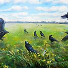 Crows and Buttercups by irenebutcher