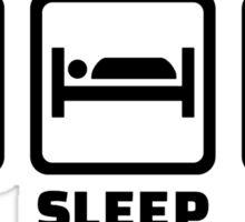 Eat sleep Rugby Sticker