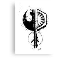 Star emblems black Canvas Print