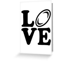 Rugby love Greeting Card
