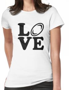 Rugby love Womens Fitted T-Shirt