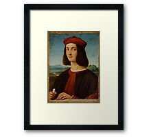 Raphael - Portrait of the Young Cardinal  Framed Print