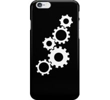 Gears - White iPhone Case/Skin