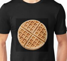 Waffle isolated on black Unisex T-Shirt