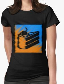 Orange and Blueberry Cake Womens Fitted T-Shirt