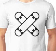 Crossed skateboards Unisex T-Shirt