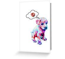 Rainbow Puppies Love Sprinkles Greeting Card