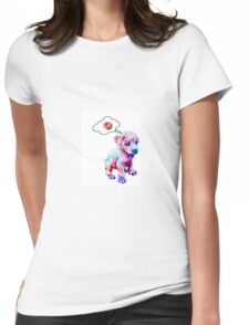 Rainbow Puppies Love Sprinkles Womens Fitted T-Shirt