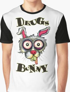 Drugs Bunny Graphic T-Shirt