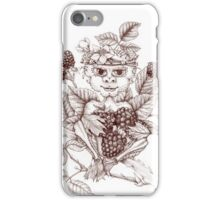 Spirits of Nature: Sir Rubus Blackberry iPhone Case/Skin