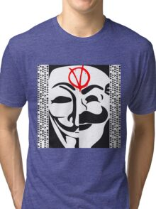 V for FSociety Tri-blend T-Shirt