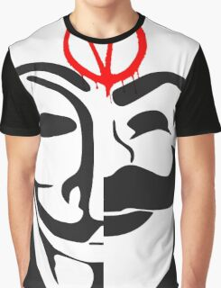 V for FSociety Graphic T-Shirt