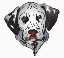 Dalmatian Dog Portrait Graphic One Piece - Long Sleeve