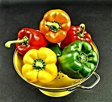 Bell Peppers 2 by Jimmy Ostgard