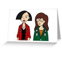 Daria and Jane Greeting Card