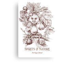 SPIRITS OF NATURE: My Figgy Friend Canvas Print