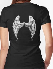 Angel Wings Hoodie Womens Fitted T-Shirt