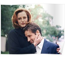 dana scully x files fox mulder Poster