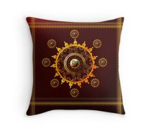 Kangra Painting on Lotus - Sun print Throw Pillow