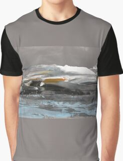 North Landscape - Original Wall Modern Abstract Art Painting Graphic T-Shirt