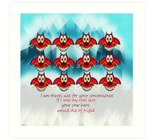 mushu emoji Art Print