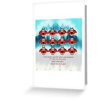mushu emoji Greeting Card