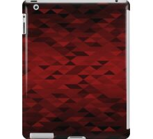 Triangle Glimmer (Dark Red) iPad Case/Skin