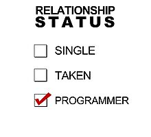 Relationship Status - Programmer Photographic Print