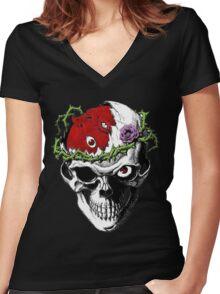 Berserk Skull Women's Fitted V-Neck T-Shirt