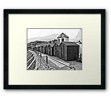 Charmouth Beach Huts Framed Print