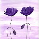 Purple poppies by Monika Howarth